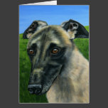 Greyhound Dog Art - Teddy Card