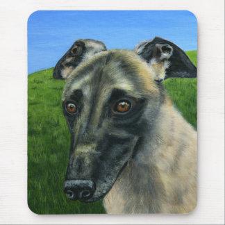Greyhound Dog Art - Teddy Mousepads