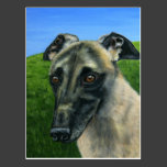 Greyhound Dog Art - Teddy Post Cards