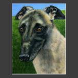 Greyhound Dog Art - Teddy Postcards