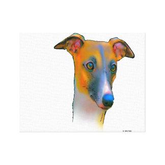 Greyhound  dog canvas print