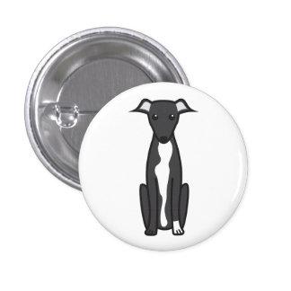 Greyhound Dog Cartoon Pin