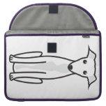 Greyhound Dog Cartoon MacBook Pro Sleeves