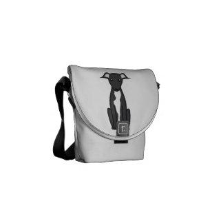 Greyhound Dog Cartoon Messenger Bag