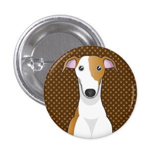 Greyhound Dog Cartoon Paws Pin