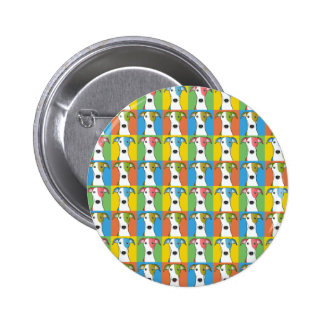 Greyhound Dog Cartoon Pop-Art Pinback Button