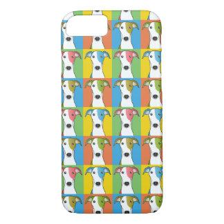 Greyhound Dog Cartoon Pop-Art iPhone 7 Case