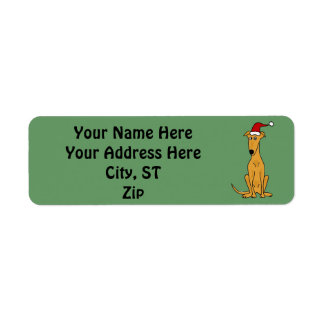 Greyhound Dog Christmas Address Labels or Gift Tag