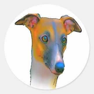 Greyhound  dog classic round sticker