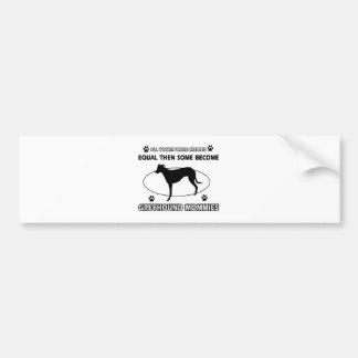 Greyhound dog designs bumper sticker