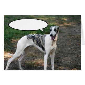 Greyhound Dog Greeting Card