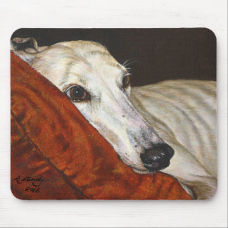 """Greyhound Dog """"Home At Last"""" Mouse Pad"""