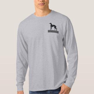 Greyhound Dog in Black and White T-Shirt
