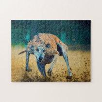 Greyhound Dog. Jigsaw Puzzle