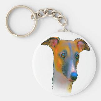 Greyhound  dog keychain