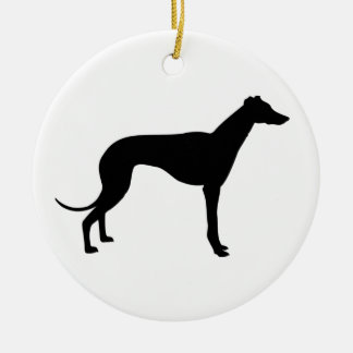greyhound dog ornament