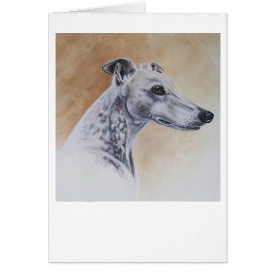 Greyhound Dog Painted in Watercolour Card