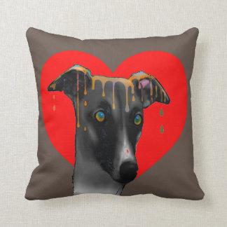 Greyhound dog pillow