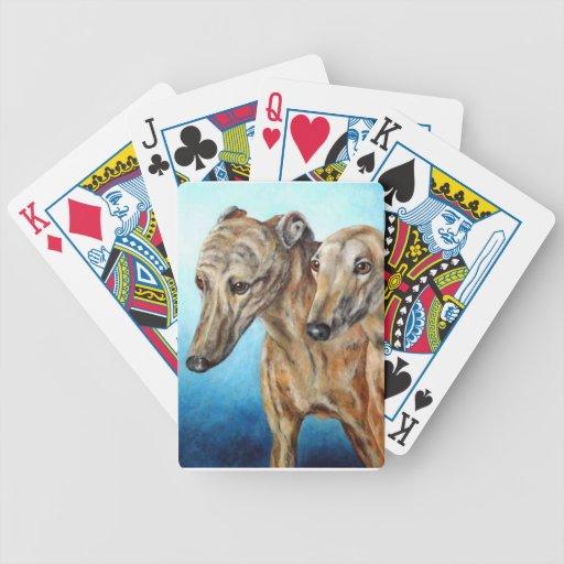 Greyhound Dog Playing Cards