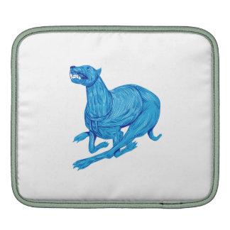 Greyhound Dog Racing Drawing Sleeve For iPads