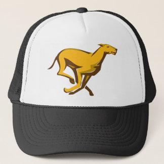 greyhound dog racing running side trucker hat