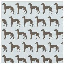 Greyhound Dog Silhouette Animal Pattern Teal Fabric