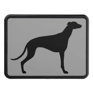 Greyhound Dog Silhouette Tow Hitch Cover