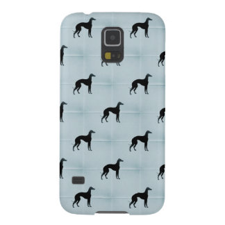 Greyhound Dog Silhouettes Blue Tile Animal Pattern Cases For Galaxy S5