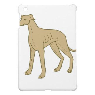 Greyhound Dog Standing Mono Line iPad Mini Covers