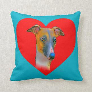 Greyhound  dog throw pillow