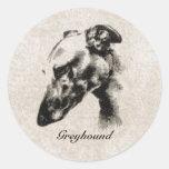Greyhound Elegance - Customizable Sticker