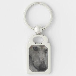 Greyhound eyes keychain