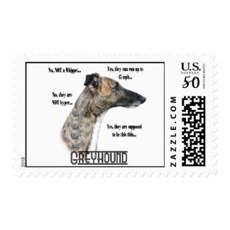 Greyhound FAQ Postage Stamp