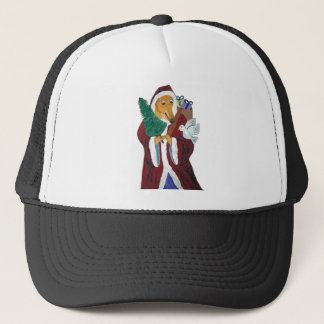 Greyhound Father Christmas Trucker Hat