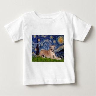 Greyhound (fawn1) - Starry Night Baby T-Shirt