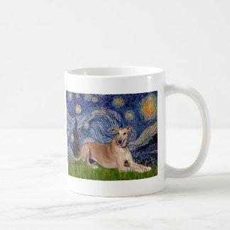 Greyhound (fawn1) - Starry Night Coffee Mug