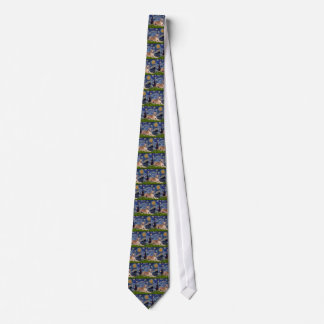 Greyhound (fawn1) - Starry Night Neck Tie