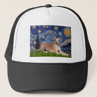 Greyhound (fawn1) - Starry Night Trucker Hat