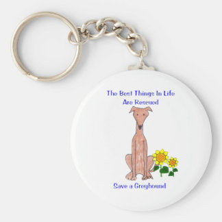 Greyhound Fawn Best Things In Life Keychain