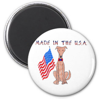 Greyhound Fawn Made In The USA Magnet
