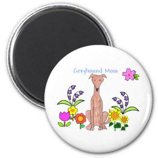 Greyhound Fawn Mom Magnet