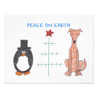 Greyhound Fawn Peace On Earth Invites
