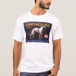 Greyhound Fruit Crate Label T-Shirt
