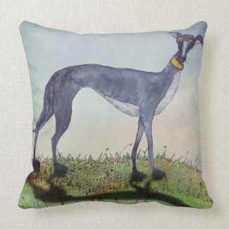 GREYHOUND g919 Throw Pillow