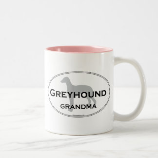 Greyhound Grandma Two-Tone Coffee Mug