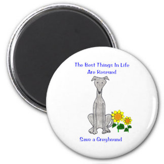 Greyhound Grey Best Things In Life Magnet