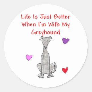 Greyhound Grey Life Is Just Better Sticker