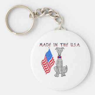 Greyhound Grey Made In The USA Keychain