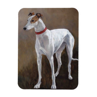Greyhound Gus Dog Art Magnet