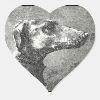 Greyhound Heart Sticker